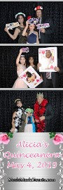 2x6 photo booth strip with solid background and props
